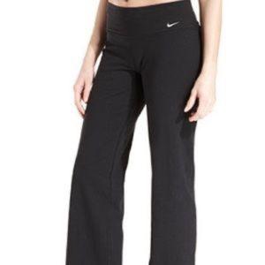 Nike Womens Black Long Wide Legged Pants Lounge Yoga Pants Dri Fit Size XS